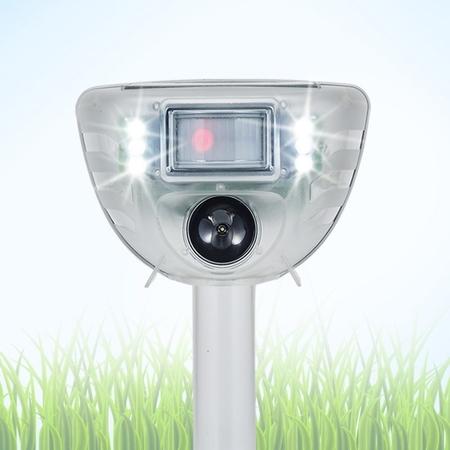 Solar Power Ultrasonic Animal & Pest Repeller with Flashing LED lights